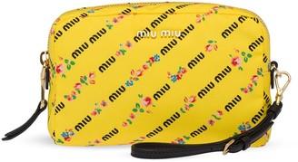 Miu Miu Logo Print Make Up Bag