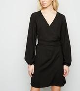 New Look JDY Tie Waist Mini Wrap Dress