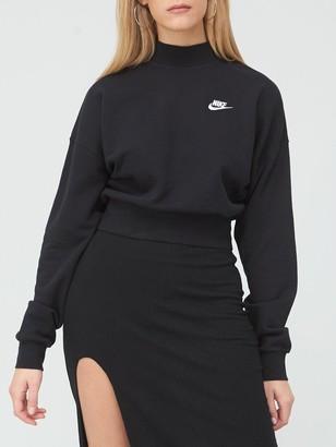 Nike NSWEssential Collar Sweatshirt - Black
