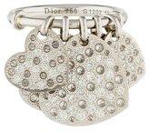 Christian Dior 18K Diamond Hearts Dangle Ring