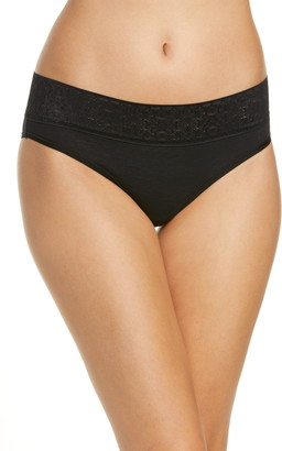 Tommy John Cool Cotton Lace Trim Cheeky Panties