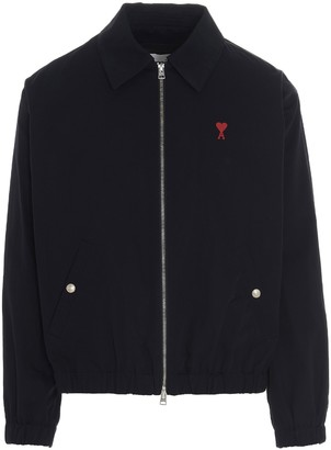 Ami Logo Embroidered Zipped Jacket