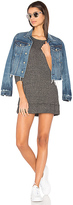 Wilt Sweatshirt Mini Dress in Black. - size L (also in )