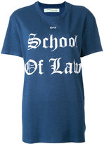 Off-White School of Law T-shirt - women - Silk/Cotton/Viscose - XS