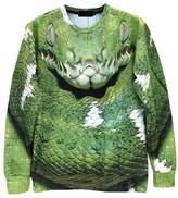 Pink Queen Green Digital Printed Long Sleeve Sweater Sweatshirt(L)
