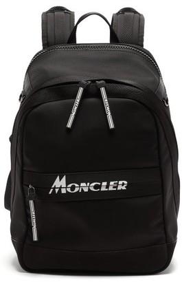 Moncler Gimont Logo-print Canvas Backpack - Mens - Black