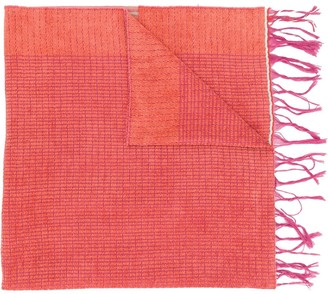 Forte Forte Colour Block Fringed Scarf