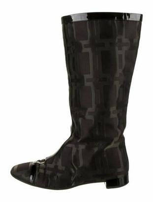 Roger Vivier Printed Boots Black