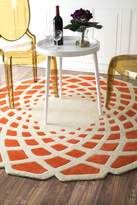 nuLoom Handmade Abstract Round Rug