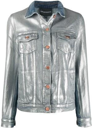 Emporio Armani Metallic Denim Jacket