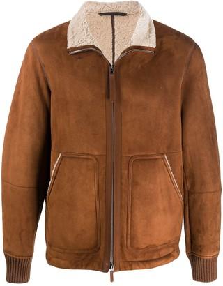 Ermenegildo Zegna Suede Shearling Jacket