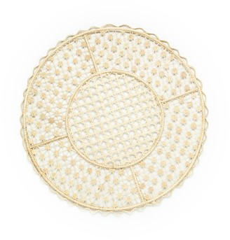 Myto Design Ritual Set Of 4 Flower Knot Weave Placemat With Trimming