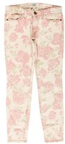 Current/Elliott The Stiletto Rose Print Jeans w/ Tags