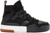 Adidas Originals By Alexander Wang Black Bball High-top Sneakers