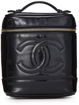 Chanel Black Patent Leather Timeless Vanity Case