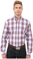 Stetson Baseball Ombre Button Front One-Pocket Long Sleeve Shirt