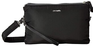 Pacsafe Stylesafe Anti-Theft Double Zip Crossbody (Black) Handbags