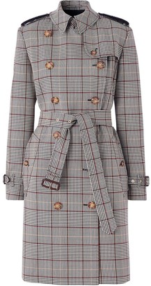 Burberry Prince of Wales check trench coat