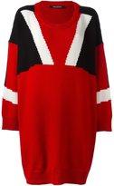 Neil Barrett colour block knit dress