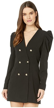 Bardot Britt Blazer Dress (Black) Women's Clothing