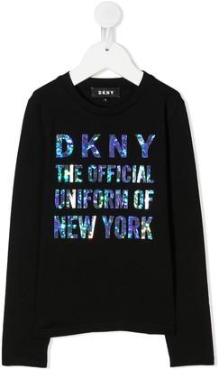 DKNY Logo Long-Sleeve Sweatshirt