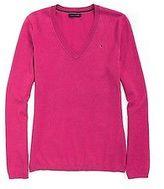 Tommy Hilfiger Women's Long Sleeve V-Neck Sweater