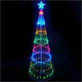 Asstd National Brand 9' Multi-Color LED Lighted Show Cone Christmas Tree Yard Art