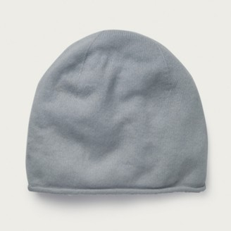 The White Company Cashmere Essential Beanie Hat, Blue, One Size