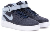 Nike Force Mid '07 fabric and leather high-top sneakers