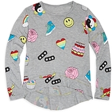 Flowers by Zoe Girls' Smiley Face, Cake & Heart Print Top - Big Kid