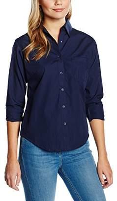 Fruit of the Loom Women's Poplin Long Sleeve Shirt,18 (Manufacturer Size:)