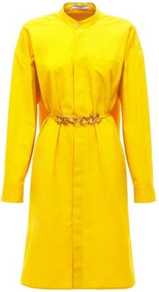Givenchy Compact Cotton Shirt Dress W/chain Belt