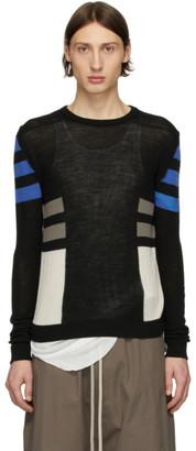 Rick Owens Black Wool Level Crewneck Sweater