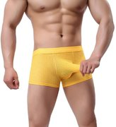 Tonsee Sexy Men Breathable Boxers Briefs (L, )