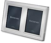 Waterford Lismore Diamond Double Frame, 5 x 7