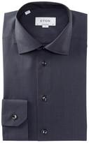 Eton Tonal Plaid Contemporary Fit Dress Shirt