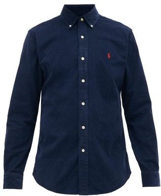 Polo Ralph Lauren Custom-fit Logo-embroidered Cotton-corduroy Shirt - Mens - Navy