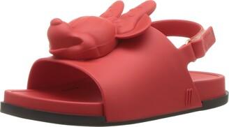 Mini Melissa Girls' Mini Beach Slide Sandal + Disney Ballet Flat