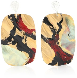 PEET DULLAERT x Joshua Osborn Beauvoir 14kt white gold-plated earrings