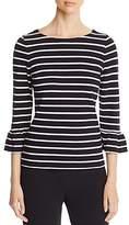 Kate Spade Stripe Bell Sleeve Top