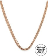 Links of London Essentials Silk 18ct Rose Gold Vermeil 10 Row Necklace -Rose