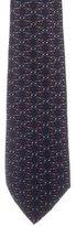 Hermes Link Print Silk Tie