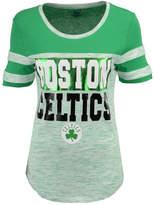 5th & Ocean Women's Boston Celtics Space Dye Foil T-Shirt