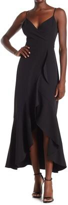 Laundry by Shelli Segal Ruffled Sleeveless High/Low Maxi Dress