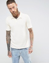 Selected Polo Shirt in Towelling Fabric