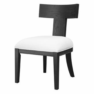 Corrigan Studioâ® Phair Wing Back Side Chair in Charcoal/White Corrigan StudioA