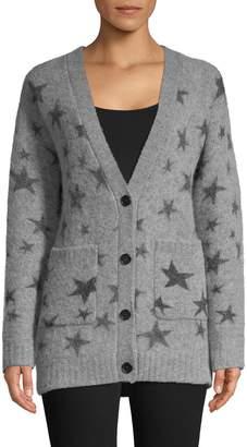 Rails Star-Print Button-Front Cardigan