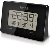 Oregon Scientific RM938 Radio Controlled Atomic Alarm Clock, Pack of 1, Black