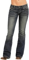 Rock & Roll Cowgirl Pyramid Stud Jeans - Low Rise, Bootcut (For Women)