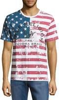 True Religion Men's USA Flag Cotton Tee